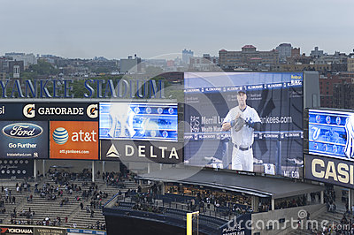 Yankees Stadium Screens Editorial Photo