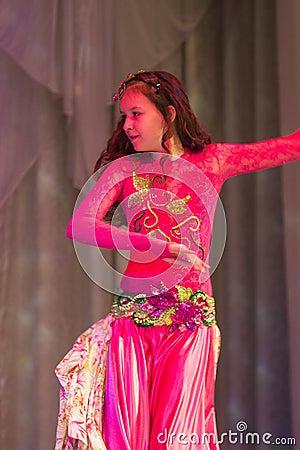 Yanukovych Polina  with oriental dance Editorial Photo
