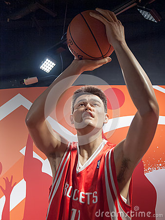 Free Yao Ming Wax Statue Royalty Free Stock Images - 28332369