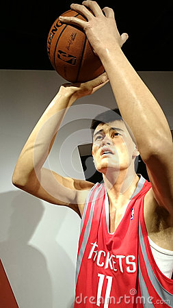 Free Yao Ming Wax Statue Stock Images - 79298014
