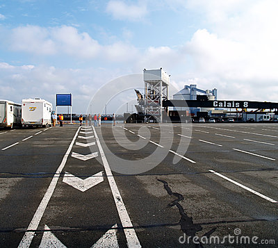Free Yard At The Ferry - Calais, France Stock Image - 28423391