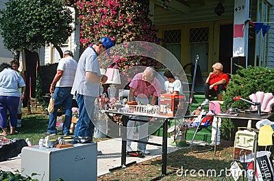A yard sale Editorial Photo