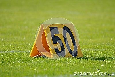 50 yard sign