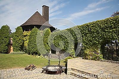 Yard of Smolenice castle