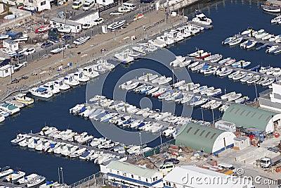 Yarda del puerto deportivo y del muelle