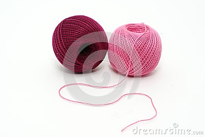 Yarn of pink and purple complementary colors stock photos - Complementary color of pink ...