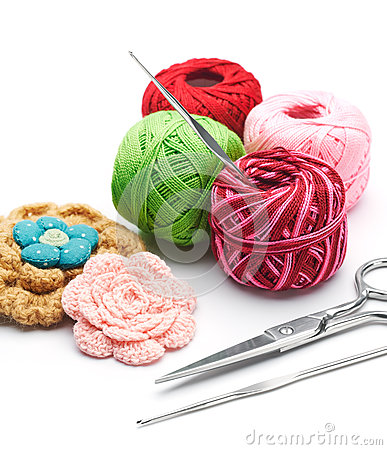 Free Yarns And Crochet Hooks Stock Images - 58369974
