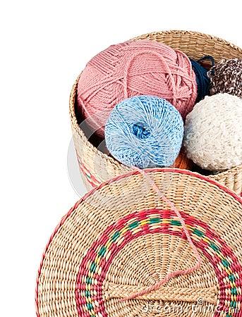 Yarns in basket