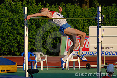 Yaroslav Rybakov high jump Editorial Photo