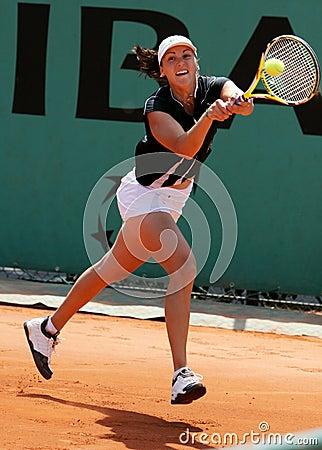 YAROSLAVA SHVEDOVA (KAZ) at Roland Garros 2009 Editorial Stock Photo