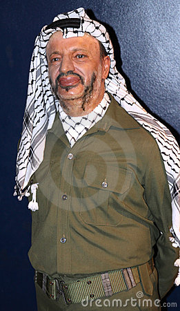 Yasser Arafat at Madame Tussaud s Editorial Photography