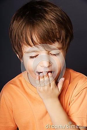 Free Yawning Boy Royalty Free Stock Image - 16095516