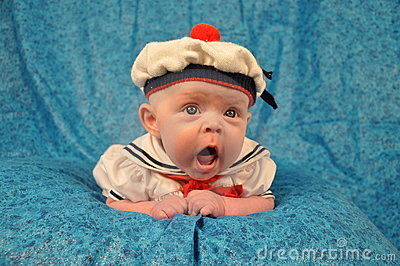 Yawning Sailor Baby