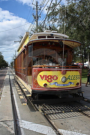 Ybor Trolley Editorial Stock Image