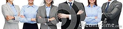 Życzliwa międzynarodowa biznes drużyna, grupa lub