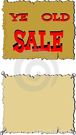 Ye old sale sign