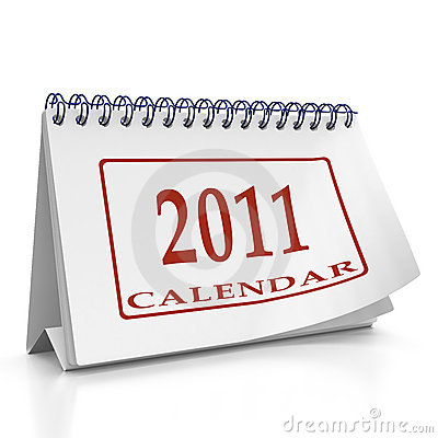Year 2011 desktop organizer