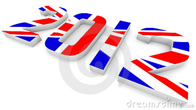 Year 2012 In British Flag for Olympic Games