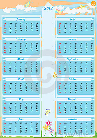 Year 2012 Calender Arrow_eps