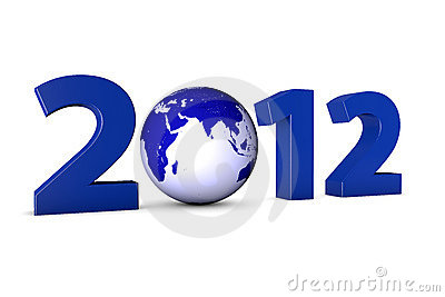 Year 2012 with earth globe