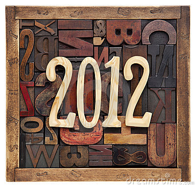 Year 2012 and letterpress type