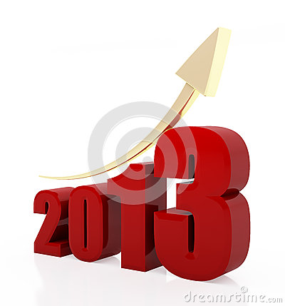 Free Year 2013 Growth Chart Stock Images - 28215284