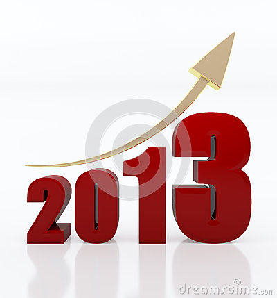 Free Year 2013 Growth Chart Royalty Free Stock Image - 28215286