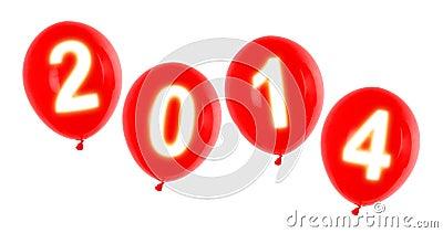 Year 2014 balloons