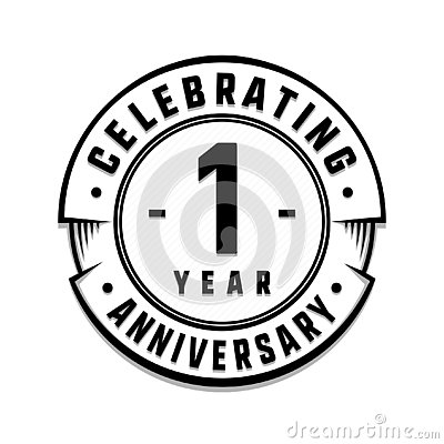 1 year anniversary logo template 1st vector and illustration cartoondealer com 140197217 1 year anniversary logo template 1st