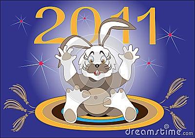 Year Hare-2011.Illustration.Background