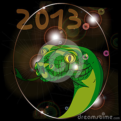 Free Year Of The Snake 2013 Royalty Free Stock Photo - 27461255