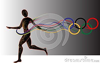 Year plays, light athletics Editorial Image