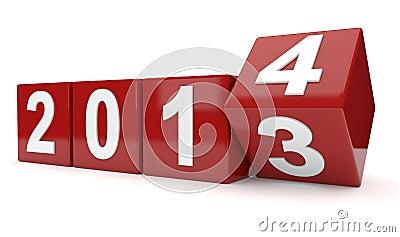 Year 2013 turns to year 2014