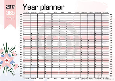 Yearly Wall Calendar Planner