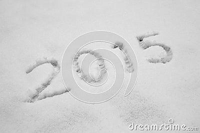 Year 2015 written in Snow