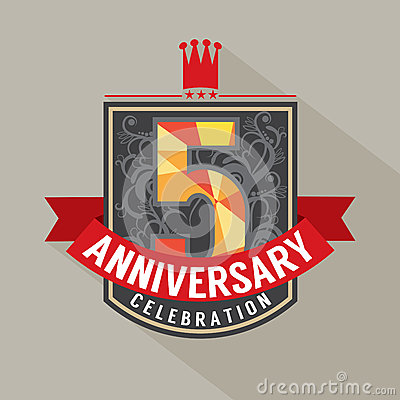 5 Years Anniversary Badge Design
