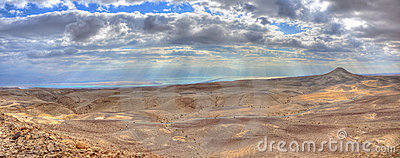 Yehuda Desert and Dead Sea Panorama, Israel