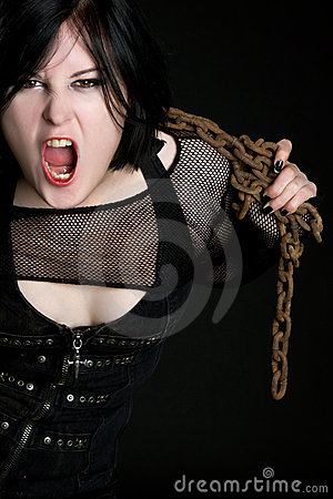 Yelling Chains Girl
