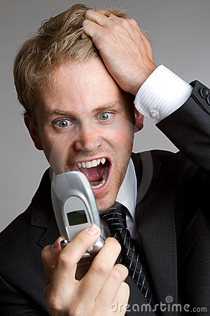Yelling Phone Man