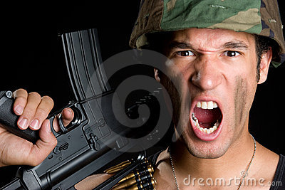 Yelling Soldier