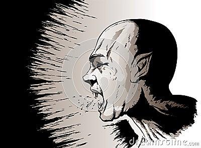 Yelling vampire