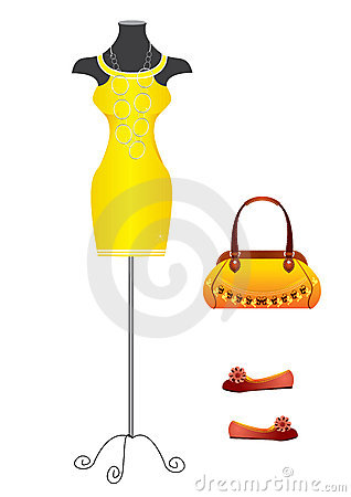 Yello dress.Fashion
