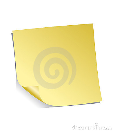 Yellow Adhesive Note