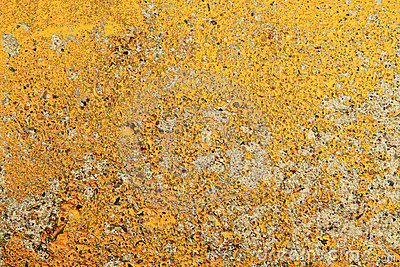 Yellow aged wall background