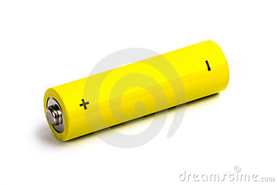 Yellow alkaline battery