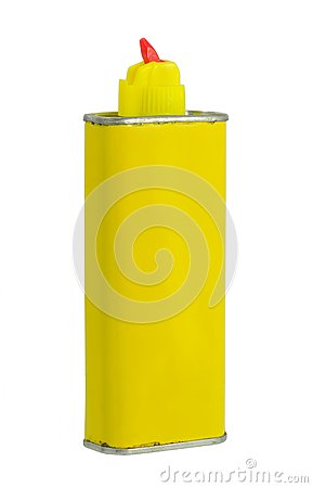 Yellow Aluminum Can With Retractable Nozzle
