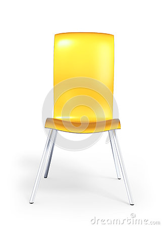 Yellow anatomical chair 3d model