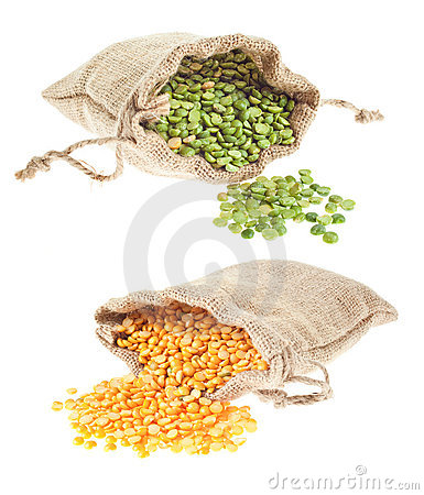 Free Yellow And Green Split Peas Stock Images - 7940604
