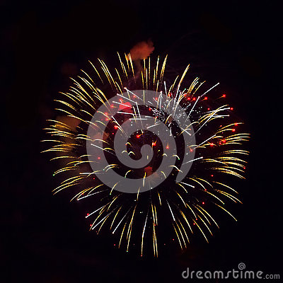 Free Yellow And Red Fireworks Stock Photos - 74755353