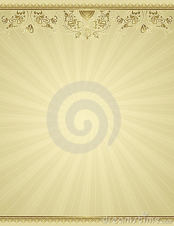 Yellow antique background, vec